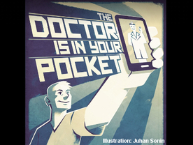 "Slogan ""Doctor is in your pocket"""